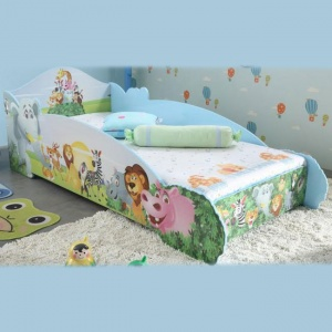 Safari Animals Design Bed