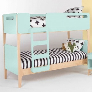 Designer double bed Turquoise