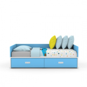 SOFA bed with drawer-blue 02